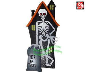 8' Projection Points Of Light Skeleton Haunted House