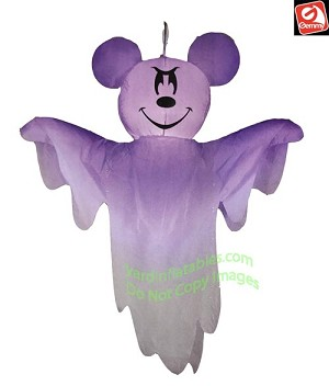 4' Gemmy Airblown Inflatable Hanging Mickey Mouse as Ghost