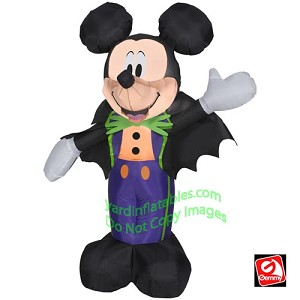 3 1/2' Mickey Wearing Halloween Tux