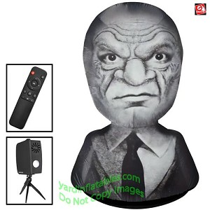 Gemmy Airblown Inflatable Living Projection Old Man Head