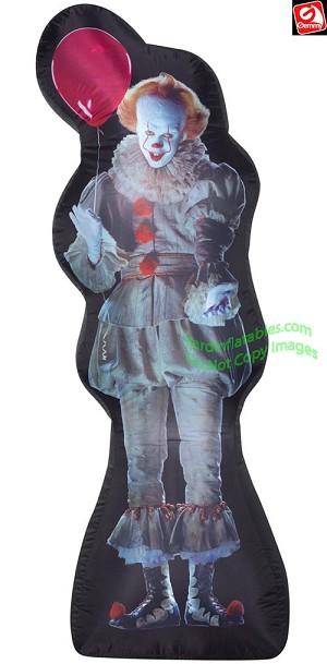 6' Airblown PhotoRealistic Inflatable Pennywise Clown