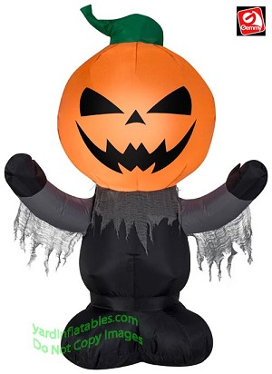 3 1/2' Airblown Inflatable Scary Pumpkin Reaper