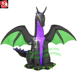7 1/2' Purple Dragon w/ Green Wings