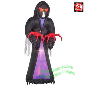 16' Gemmy Airblown Inflatable Colossal Fire & Ice Grim Reaper
