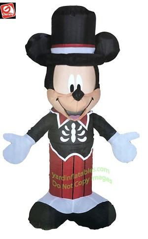 3 1/2' Airblown Inflatable Mickey Mouse Skeleton Outfit