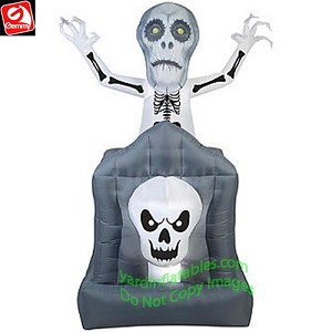 6' Animated Pop up Skeleton Haunted Tomb
