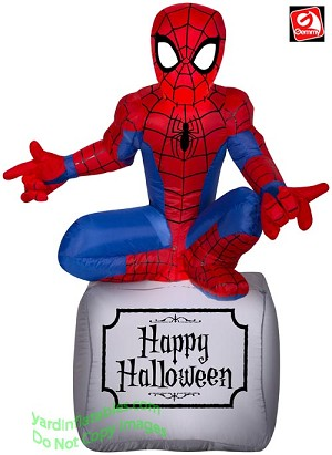 3 1/2' Airblown Inflatable Marvel's Spider man on Tombstone