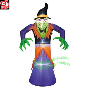 5 1/2' Wicked Witch In Purple & Orange Outfit