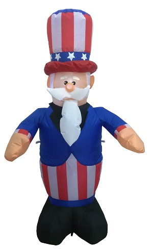 4' Air Blown Inflatable Uncle Sam w/ Beard & Mustache