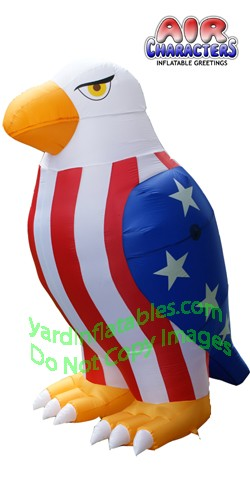 8' Air Blown Inflatable Patriotic American Bald Eagle