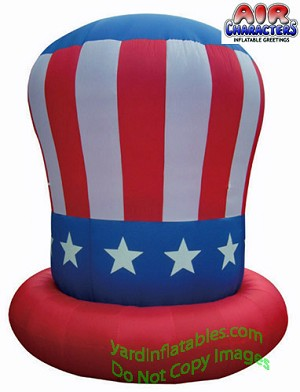 Patriotic 10ft Hat Red Brim
