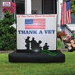 "6' Air Blown Inflatable Patriotic ""Thank a Vet"" Sign"