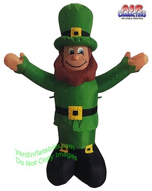 4' Air Blown Inflatable St. Patrick's Day Leprechaun w/ Hands Up