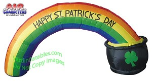 8' St. Patrick's Day Rainbow Arch With Pot Of Gold