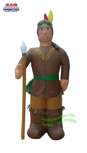 Thanksgiving Indian Man Holding Spear