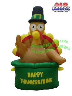 6' Inflatable Thanksgiving Turkey in Pot