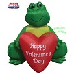 6' Valentine's Frog Holding Heart